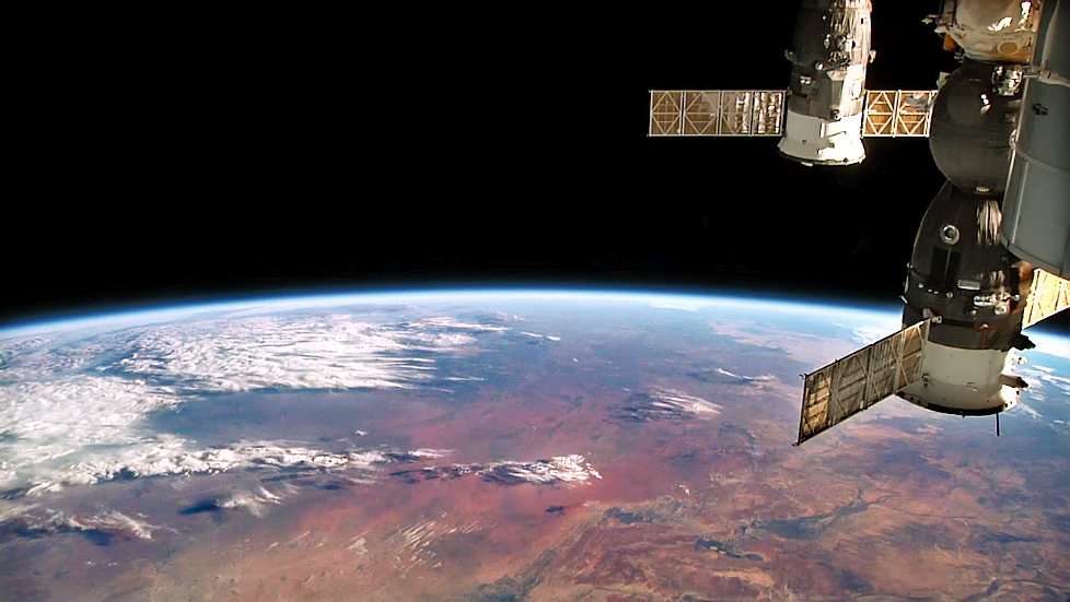 Actual photo taken by International Space Station (ISS) cameras.