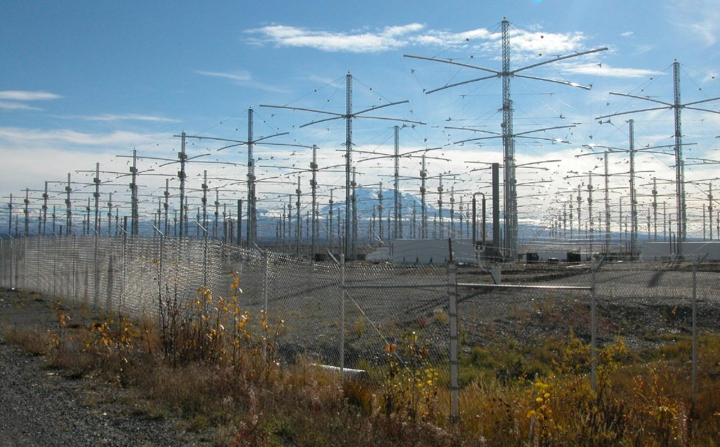 Some of HAARP's powerful antennae.