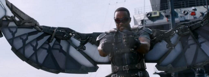 Sam (Anthony Mackie) may be nice on the ground but in the air it's a different story.