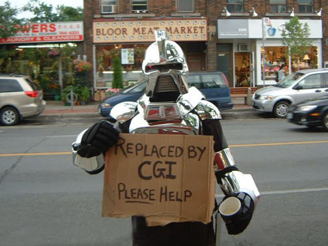 Poor Cylon - Replaced by CGI
